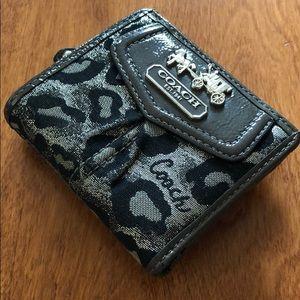 Coach wallet, medium fold over w/ snap closure